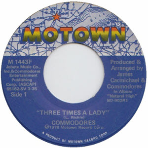Three Times A Lady by the Commodores WTS20190617