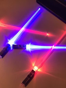 Lightsaber Chop Sticks